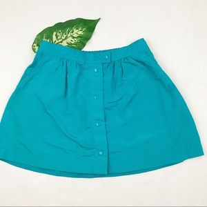 VINTAGE Michele Palmer aqua mini skirt